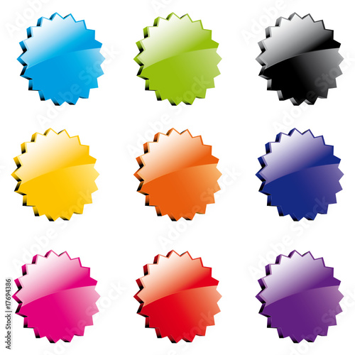 pastilles etoiles de couleurs fichier vectoriel libre de droits sur la banque d 39 images fotolia. Black Bedroom Furniture Sets. Home Design Ideas