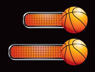 Basketball on orange checkered tabs