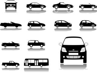 Set icons. Cars