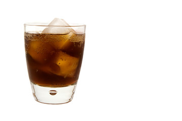 Isolated Glass of Soda Pop