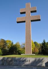 La croix de Lorraire à Colombey les deux églises