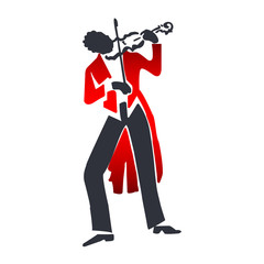abstract violin player - vector musicians