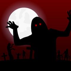 nachts auf dem zombie-friedhof