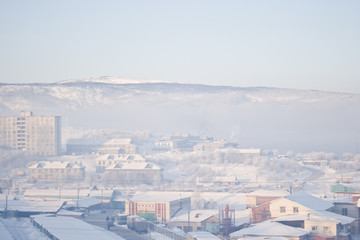 Murmansk view from the window