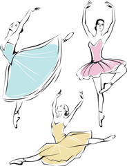 Beautiful ballet dancers