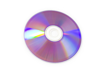 Laser disk isolated on the white background