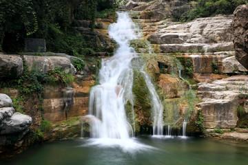Water falls and cascades of Yun-Tai Mountain China Wall mural