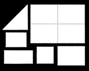 Frames of several Forms Stamps