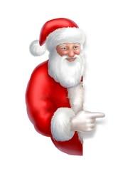 santa claus with cartel