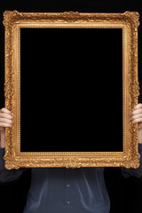 man with a frame