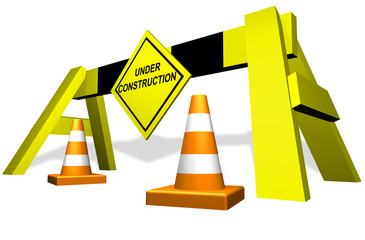 """Under construction"" traffic block"