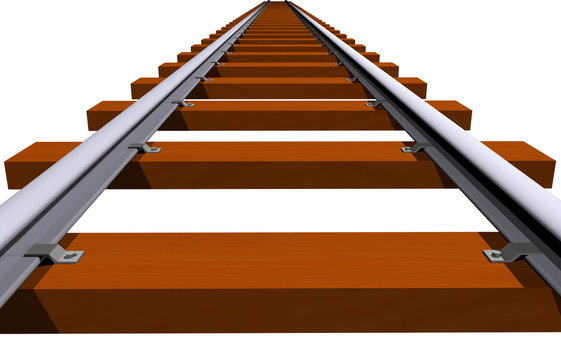 Endless 3D railway track