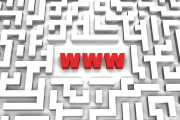 World Wide Web Maze - 3D image