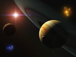 木星の環(CG)