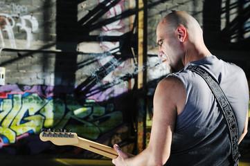 music guitar player outdoor