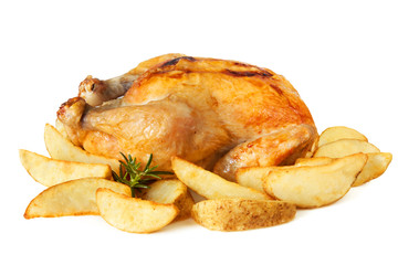 Roast chicken with Potato Wedges