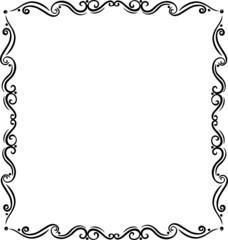 Rahmen, floral, Ornament, filigran, Tattoo Style