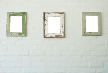 Three frames on wall