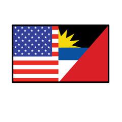 America Antigua Barbuda Flag