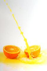 orange juice splashes