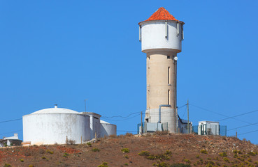 Wasserturm in Vila do Bispo, Algarve, Portugal