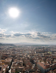 Florence Cityscape viewed from Campanile