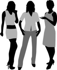 Fashionable women - clothing details