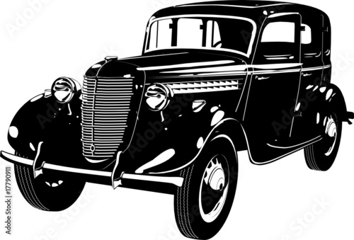 Vector Vintage Car Silhouette Stock Image And Royalty Free Vector