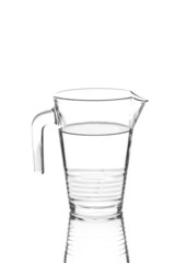 Water pitcher isolated on white background