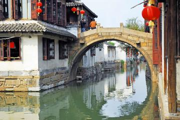 China,Shanghai water village Zhujiajiao