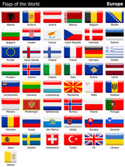 Flags of the World - Europe - Part I.