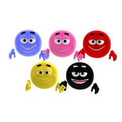 cool and funny emoticon in all colors of the world