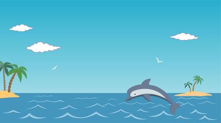 Poster Turkoois sea landscape