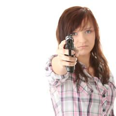 Young woman revenge