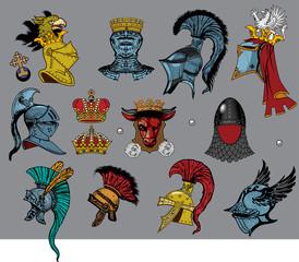Heraldic heads