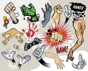 Comic book - Hands