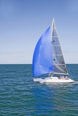 Lone Yacht Sailing