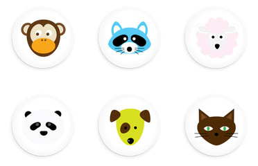 Animal One Inch Buttons