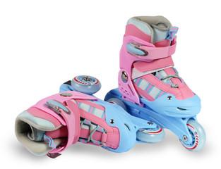 roller skates on the white background