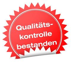 button icon label siegel qualität qualitätskontrolle bestanden