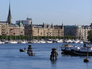 Stockholm harbour by the sea