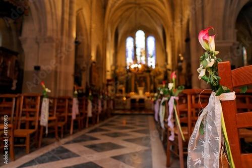 D coration d 39 glise pour un mariage photo libre de droits sur la banque d 39 images - Decoration eglise mariage ...