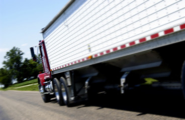 Semi on road