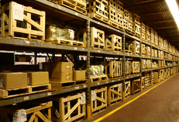 An onsite industrial factory's warehouse.