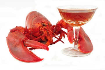Lobster & alcohol