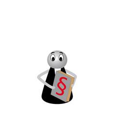 Spielfigur Anwalt abstrakt