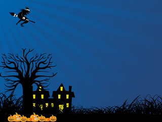 vector illustration of halloween wallpaper
