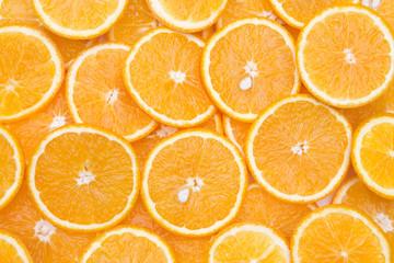 Spoed Foto op Canvas Plakjes fruit Orangenscheben