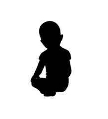 Baby Illustration Silhouette