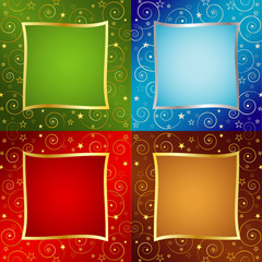 Four colors Holiday background